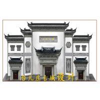 砖雕照壁 门楼 广场泥塑 古建室外人物砖雕
