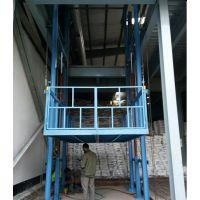 信阳工厂货梯价格 固定式液压升降台 室外导轨链条式升降机 定制 【航天机械】