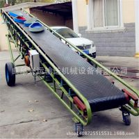 600mm带宽皮带输送机 装车用10米长运输机 南京市粮食皮带机