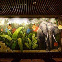 南昌彩绘 南昌手绘墙 南昌墙面彩绘 南昌背景墙彩绘!给力的画师团队!