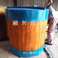 1吨2吨5吨木酒罐木酒海价格 桑皮纸糊制木酒罐订购 酒库储酒用贮罐图片