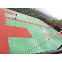 """重庆篮球场塑胶EPDM材料,江苏""""银河""""牌Y322型颗粒,山东东大胶水,现场加工定做,费用低,工期快"""
