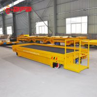 钢厂铸造车间转运65吨低压电动轨道车 模具转运升降车 车间过跨车单价