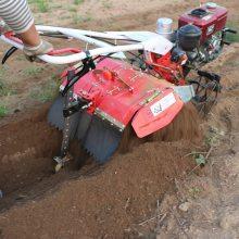 蔬菜大棚松土机 小型手推自走式旋耕机 汽油柴油后旋微耕松土机