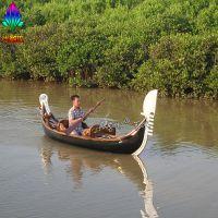 广州尚雕坊小船渔船造型玻璃钢材质园林景观小品工艺品雕塑展览道具摆件