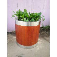 供应品旺不锈钢实木花箱FX-021