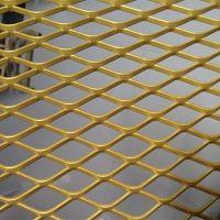 氟碳喷塑铝板网 装饰 隔断 鱼鳞孔 铝板扩张网