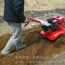 四驱后旋微耕机 家用松土除草机大棚菜地果园微耕机