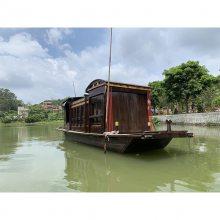 四川巴中不忘初心牢记使命红色文化木船1:1比例