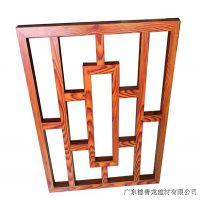 木纹铝合金窗花-仿古中式月亮门隔断定制