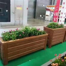厂家大量出售低价***水泥仿木花箱/仿木水泥花桶花盆