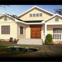 农村全新设计建造轻钢别墅房屋 自建轻钢房