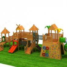 户外原生态木质树屋滑梯 幼儿园树屋组合滑梯 木质拓展滑梯 儿童体能攀爬训练定制