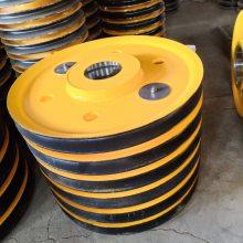 厂家批发2021欧洲杯备用网站滑轮组 升降机滑轮片 铸钢滑轮片 轧制滑轮片
