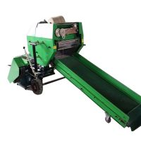全自动牛草打捆包膜机 山羊场秸秆牧草揉丝机 养殖场草料粉碎打捆机