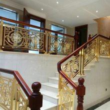 湖南砂金喷涂铝艺弧形楼梯扶手绕不开的精致装修方式
