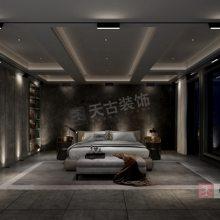 龙湖尘林间装修,尘林间138户型设计方案,现代黑白灰装修效果图