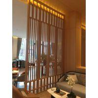 外墙镂空窗花装饰屏风,型材木纹铝窗花隔断款式选择