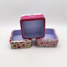 铁盒批发开窗盒PVC透明马口铁盒现货礼品天地盖透明开窗糖果盒
