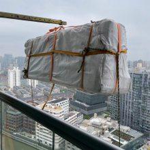上海高层装修大件家具上楼,高楼住宅实木床垫床架搬上楼,上海别墅吊床头电视柜电话