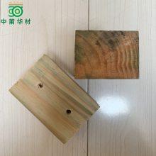 打孔木砖材料 济南8*8*12建筑工地木构件 防腐木砖工厂
