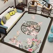 水晶绒印花地毯定制 简约现代客厅茶几网红同款飘窗垫水晶绒
