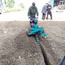 电力埋线缆用挖掘机 柴油开沟机 液压挖沟机价格