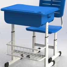 新款 钢塑螺丝升降课桌椅