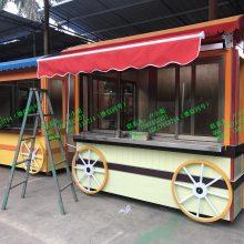 欧洲街 小型咖啡冰激凌热狗售卖亭 迷你美食餐饮茶饮室外零售花车