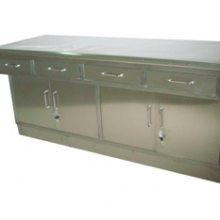 医用304不锈钢双面工作台 带抽屉带柜门办公桌