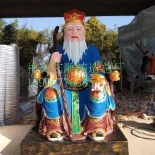 开光厂家直销土地公土地婆供奉神像彩绘佛像摆件 福德正神地主财神爷摆设
