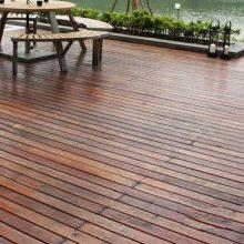 防腐木地板户外亲水平台欧式现代风格松木景观木质地板铺设南京工厂***