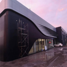 广汽丰田4s店定制银灰色2.5mm厚外墙面铝单板