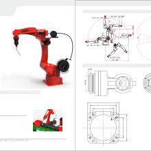 工业焊接机器人LH2100mm 码垛机器人 搬运机器人 喷涂机器人
