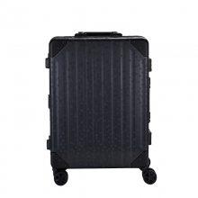 20寸正六边形纹铝合金框拉杆箱 全铝镁合金行李箱 定制万向轮旅行箱 铝合金登机箱