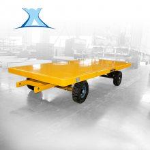 小拖车底盘 重载无动力搬运平板挂车周转车黄色_百特智能