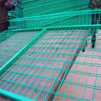 现货框架护栏网 桃型柱护栏网厂 波浪隔离栏