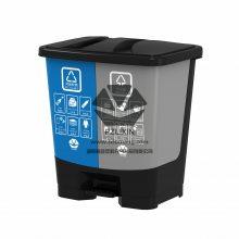 两桶一袋40L分类脚踏垃圾桶厂家