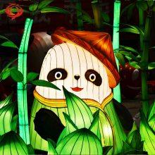 熊猫彩灯 熊猫主题花灯 大型节日花灯 自贡灯会制作公司