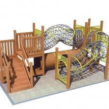 厂家定制木质拓展滑梯 原生态木制树屋滑梯 户外大型拓展攀爬滑梯 儿童游乐设施