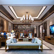 南京330平方米新中式风格别墅装修设计效果图-南京润邦国际装饰
