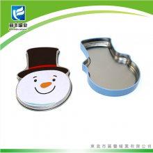 圣诞老人铁盒 雪人马口铁盒 圣诞装饰礼物盒 包装礼盒圣诞铁盒