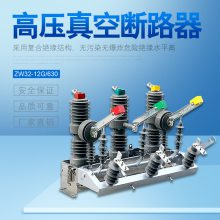 10kv户外柱上高压真空断路器ZW32-12G/630不锈钢带隔离手动开关