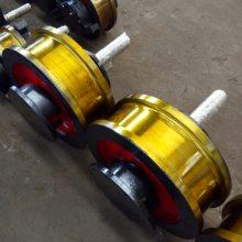 起重机双梁行车轮组 单边双边角箱车轮组 型号齐全