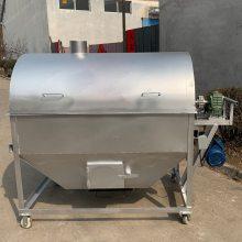 滾筒式芝麻炒鍋 多味干果滾筒式炒料機 電加熱炒黃豆機