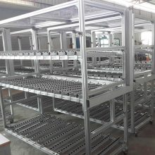 Sun-flare上海善昶定制工厂车间用移动铝型材流利条货架