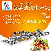 祥九瑞盈蔬菜加工生产线学生营养餐***无刀化厨房设备加工流水线厂家