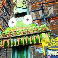 公园儿童游乐设备青蛙跳 户外儿童乐园儿童跳楼机单面青蛙跳