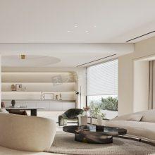 重庆玥湖园装修,玥湖园洋房设计方案,意式极简风格装修效果图