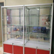 泉州玻璃展示柜带锁门透明带灯南安广告展览展示架陈列架传媒展柜